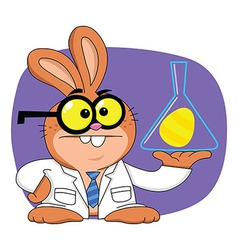 Easter Bunny Scientist vector image