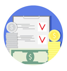 finance audit and check icon vector image