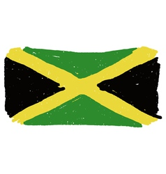 Flag of Jamaica handmade vector