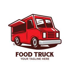 food truck logo design vector image