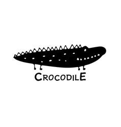 Funny crocodile sketch for your design vector