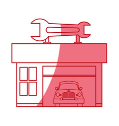 garage door mechanic vector image vector image