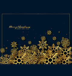 golden christmas snowflakes background decoration vector image