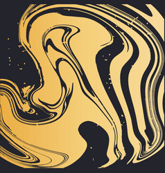 golden fluid art elegant background cover card vector image