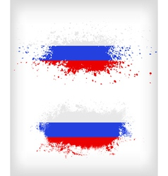 Grunge russian ink splattered flag vector image