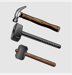 hammer sets vector image
