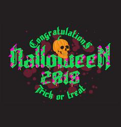 Happy halloween party lettering retro poster vector