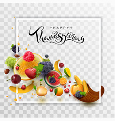 Happy thanksgiving day handwritten calligraphy vector