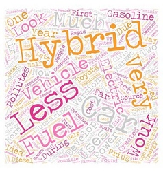 history of hybrid car text background wordcloud vector image
