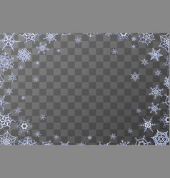 Horizontal frozen frame with lots of blue vector