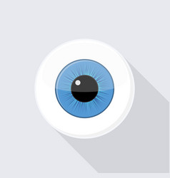 Human eyeball eye with bright blue vector