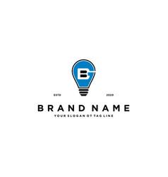Letter gb lamp logo design vector