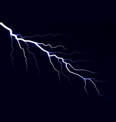 lightning electric thunder storm vector image