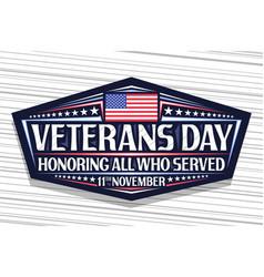 Logo for veterans day vector