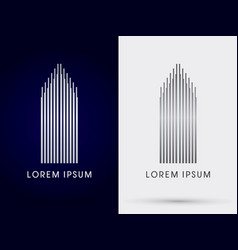 luxury building condominium vector image