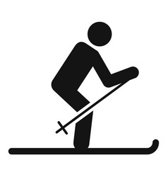man ski icon simple style vector image