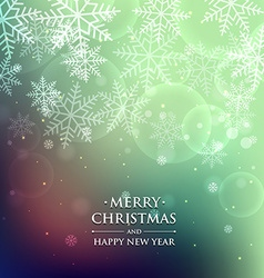 Merry christmas snowflake background vector
