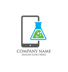 mobile science logo vector image