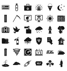 Natural task icons set simple style vector