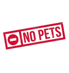 No Pets rubber stamp vector