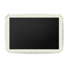 old blank photo frame placed in album vector image