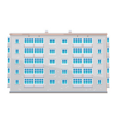 One five-story building isolated vector
