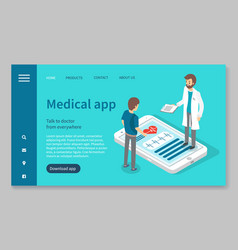 online consultation with doctor medical app vector image
