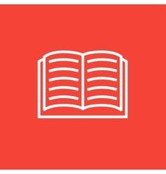 Open book line icon vector image