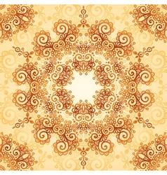 Ornate vintage seamless pattern in mehndi style vector