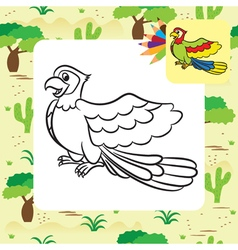 parrot coloring page vector image