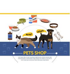 Pet shop round concept vector