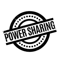 power sharing rubber stamp vector image