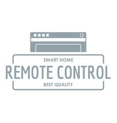 remote control logo simple gray style vector image