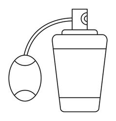 Retro perfume icon outline style vector