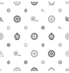 roulette icons pattern seamless white background vector image
