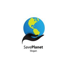 save planet logo vector image
