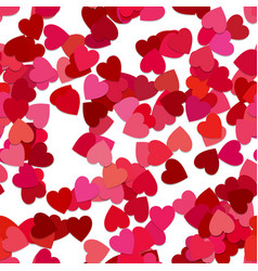 seamless abstract random heart pattern background vector image