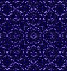 seamless pattern of blue circles halfton vector image