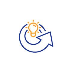 Share idea line icon light bulb or lamp sign vector