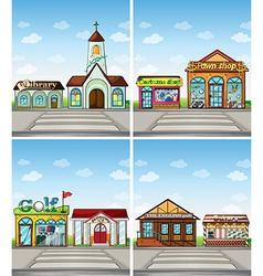 Shops and places vector