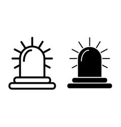Siren line and glyph icon alarm vector