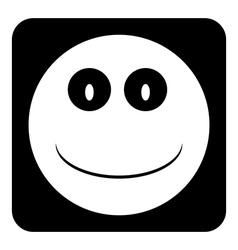 Smile face button vector