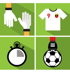 Soccer icon set III vector image