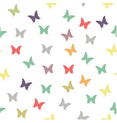 spring background with colorful butterflies vector image