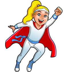 teen girl superhero cartoon clipart vector image