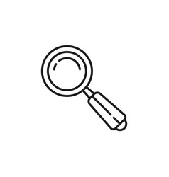 Thin line magnify like search icon vector