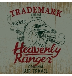 Vintage label with eagle vector image