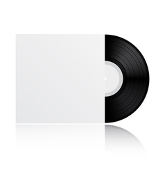 Vinyl record with cover vector