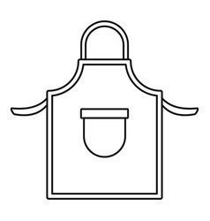 Welding clothes icon outline style vector