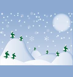 Winter background- vector